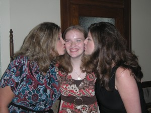 Jenny with her two big sisters!