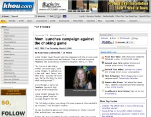 Mom launches campaign against the choking game